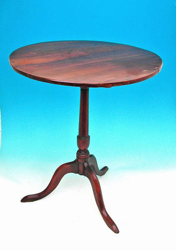 18thc Antique Furniture Fruitwood Tripod Table. English C1770-80.