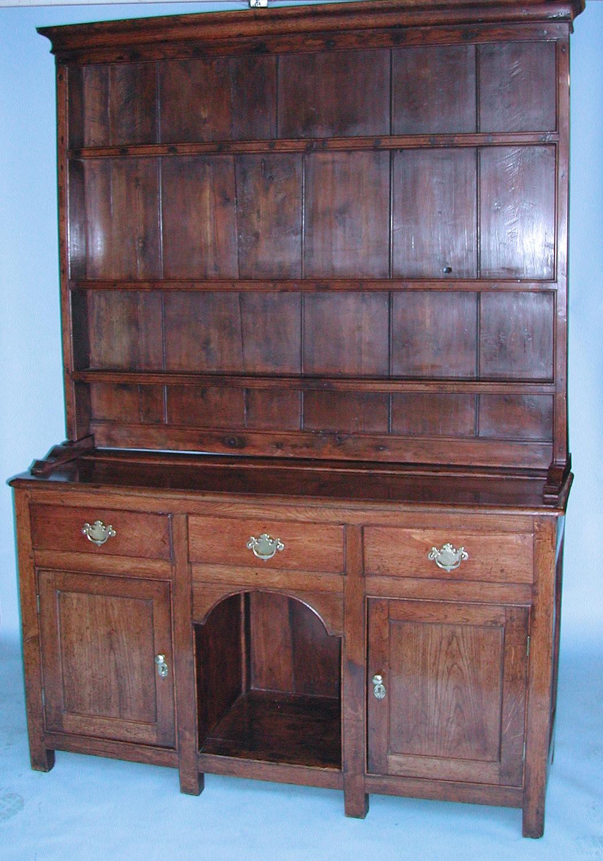 Antique 18thc Oak Furniture Welsh Dresser. Welsh C1780-C1800