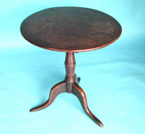 Antique Furniture 18thc Oak & Elm Tripod Table. English C1740 - C1760