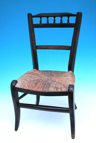 Antique 19thc Furniture Painted Childs Chair. English C1820-C1830