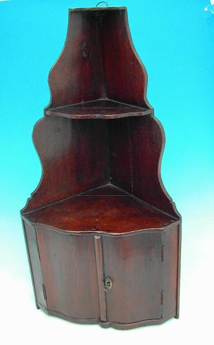 Antique 18thc Oak Furniture Corner Cupboard. Dutch C1760 - 80