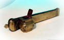 Antique 18thc Brass Quill Holder & Ink Well. English C1760 - 80 - picture 3