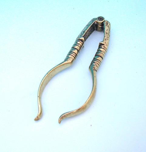 Antique 18thc  Metalware Brass Nutcrackers.  English C1774 - C1780