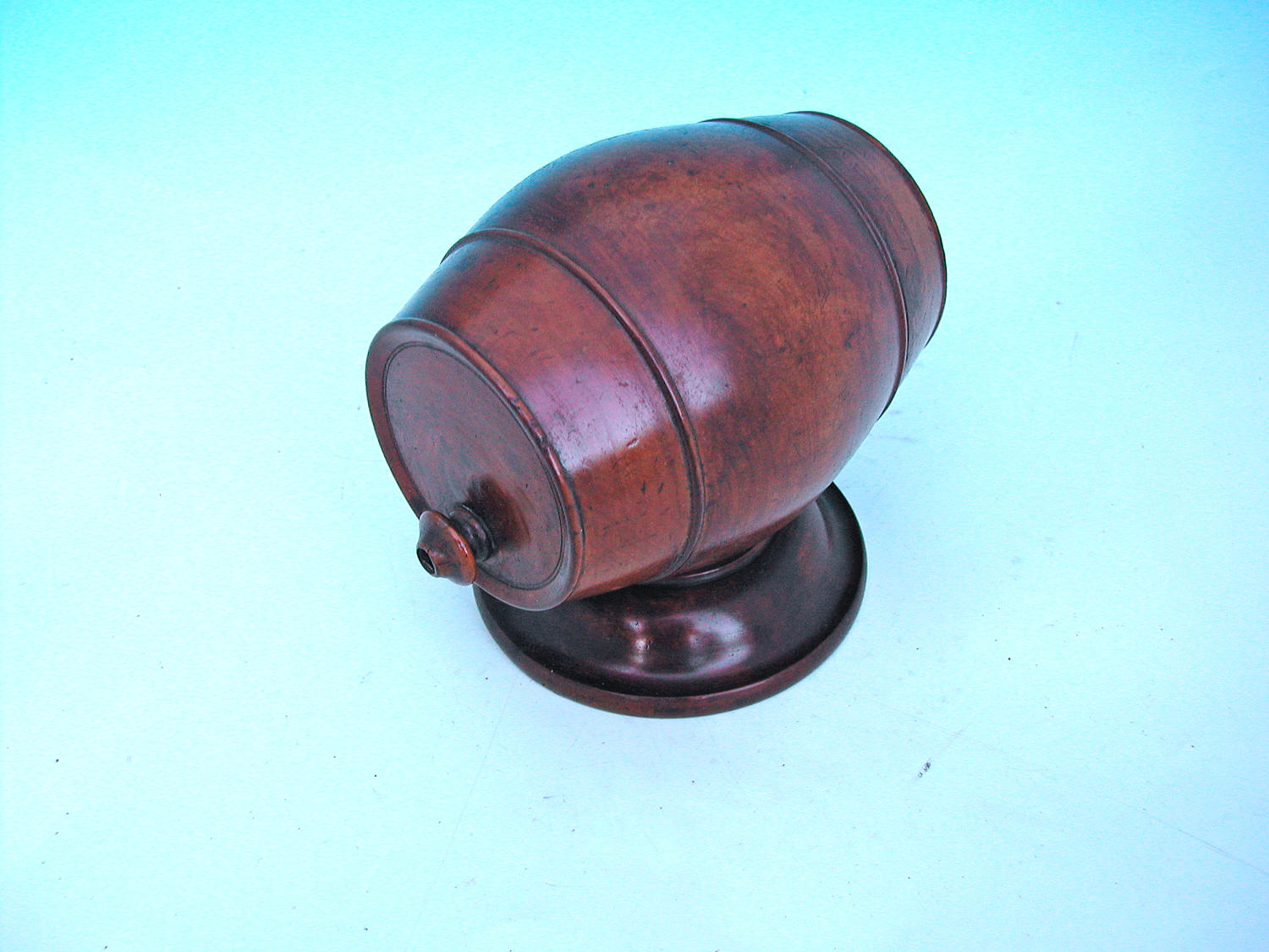 Antique 19thc Ash Treen String Barrel. English C1840 - 60