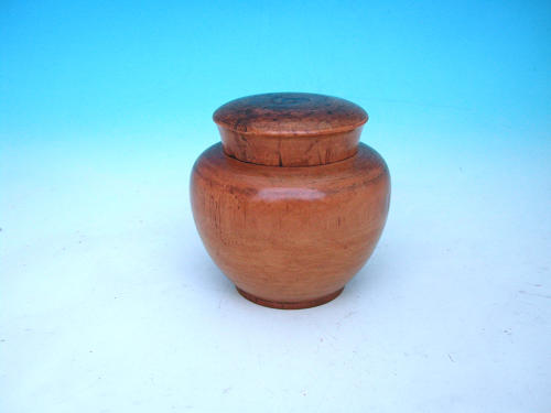 Antique Early 19thc Birch Treen Ginger Jar. English C1800 - 20