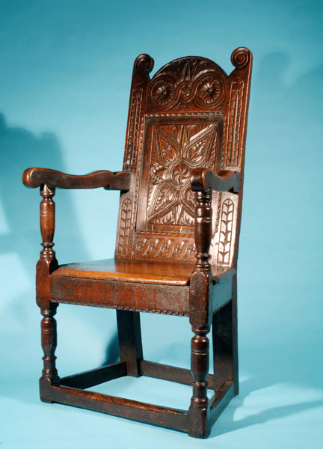 17thc Oak Wainscot Chair.  English. C1640-60