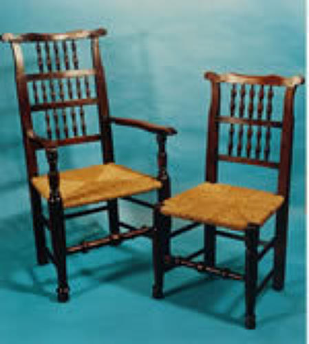 Harlequin Set of 18thc Ash Spindle Back Chairs. English C1770 - 80