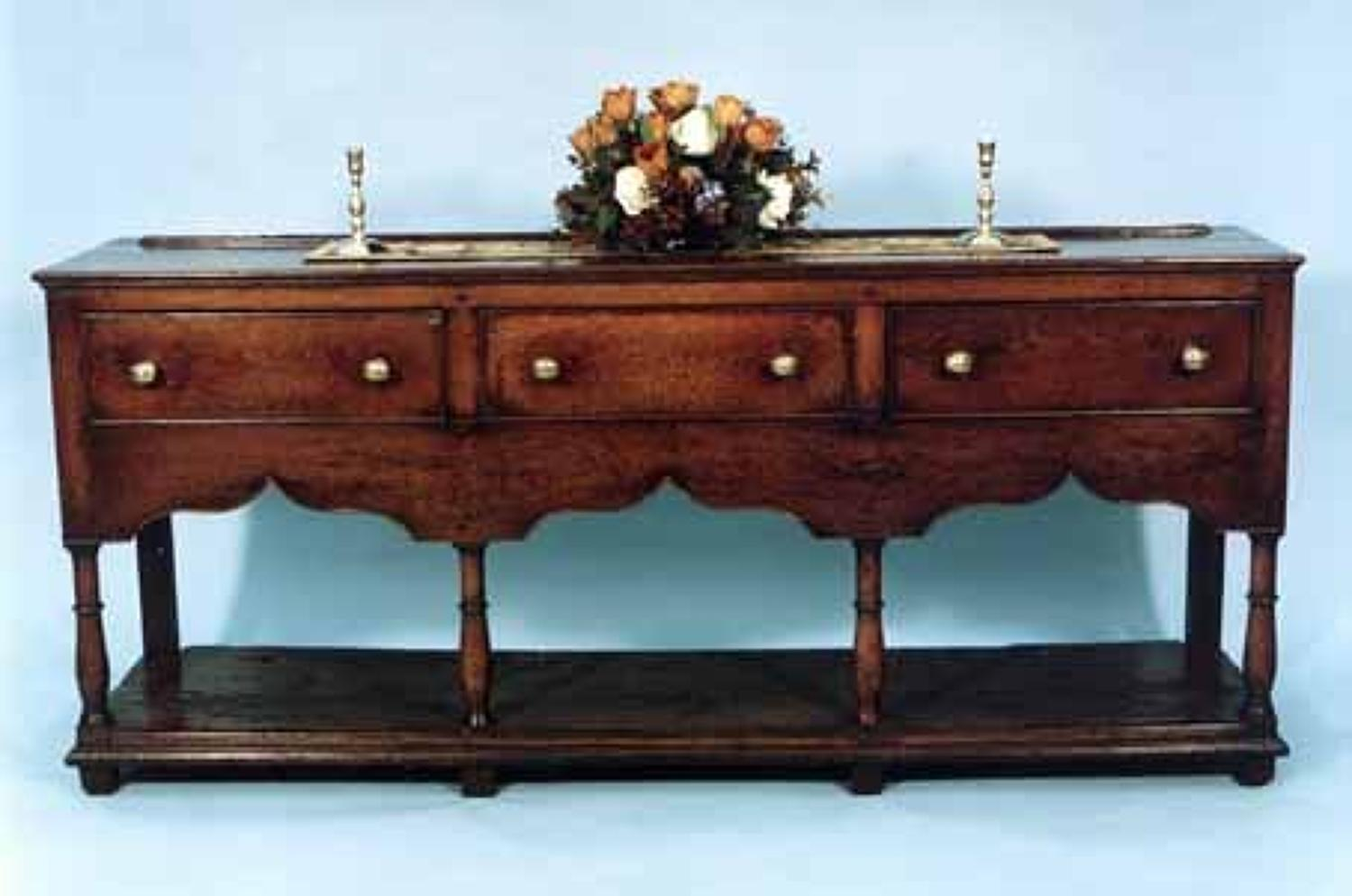 18th Century Potboard Dresser Base. Welsh C1760 - 70