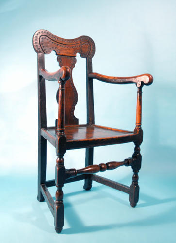 18thc Ash Joined Chair. Welsh  C1720 - 30