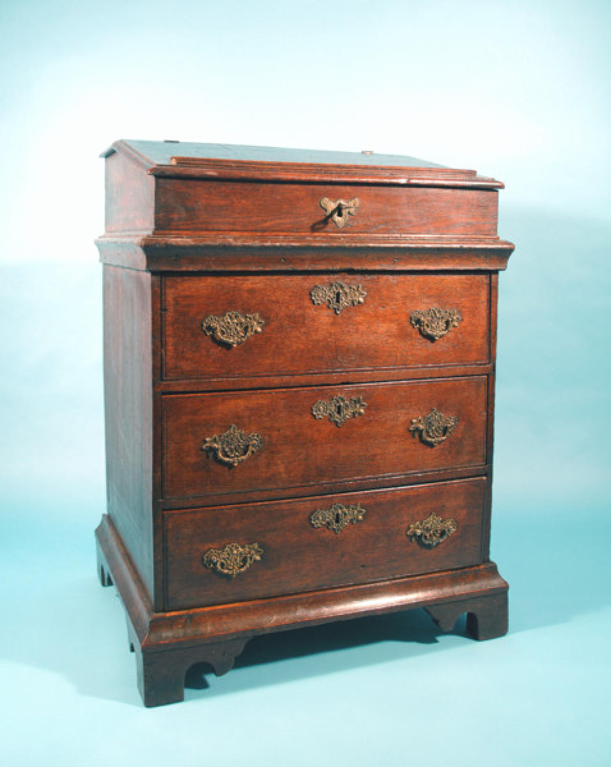 18thc Oak Writing Box on Chest. English   C1705 - 10