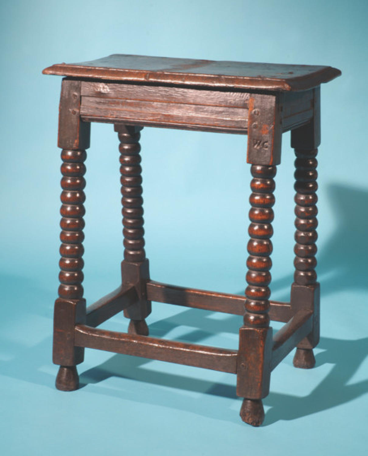 17thc Oak Joint Stool. English  C1660 - 70