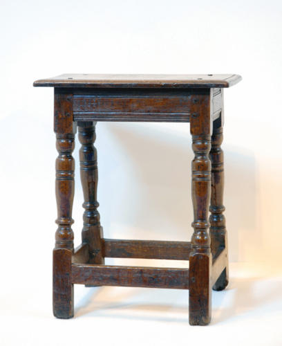 17thc Oak Joint Stool. English C1640 - 50