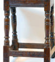 17thc Oak Joint Stool. English C1640 - 50 - picture 2