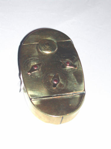 Early 19thc Brass Combination Snuff Box. English C1820 - 40