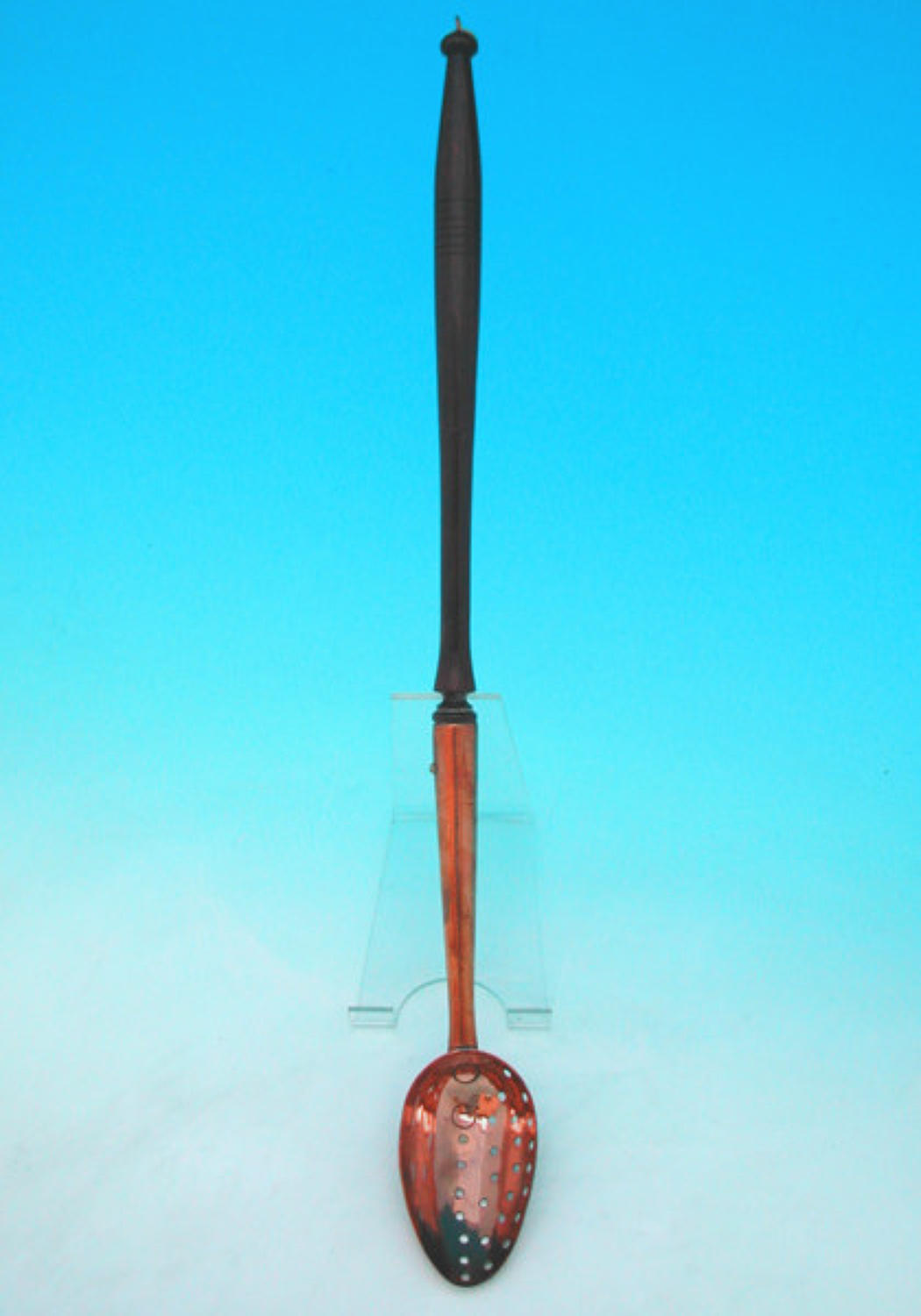 19thc Antique Copper Straining Ladle. English C1800 - 40