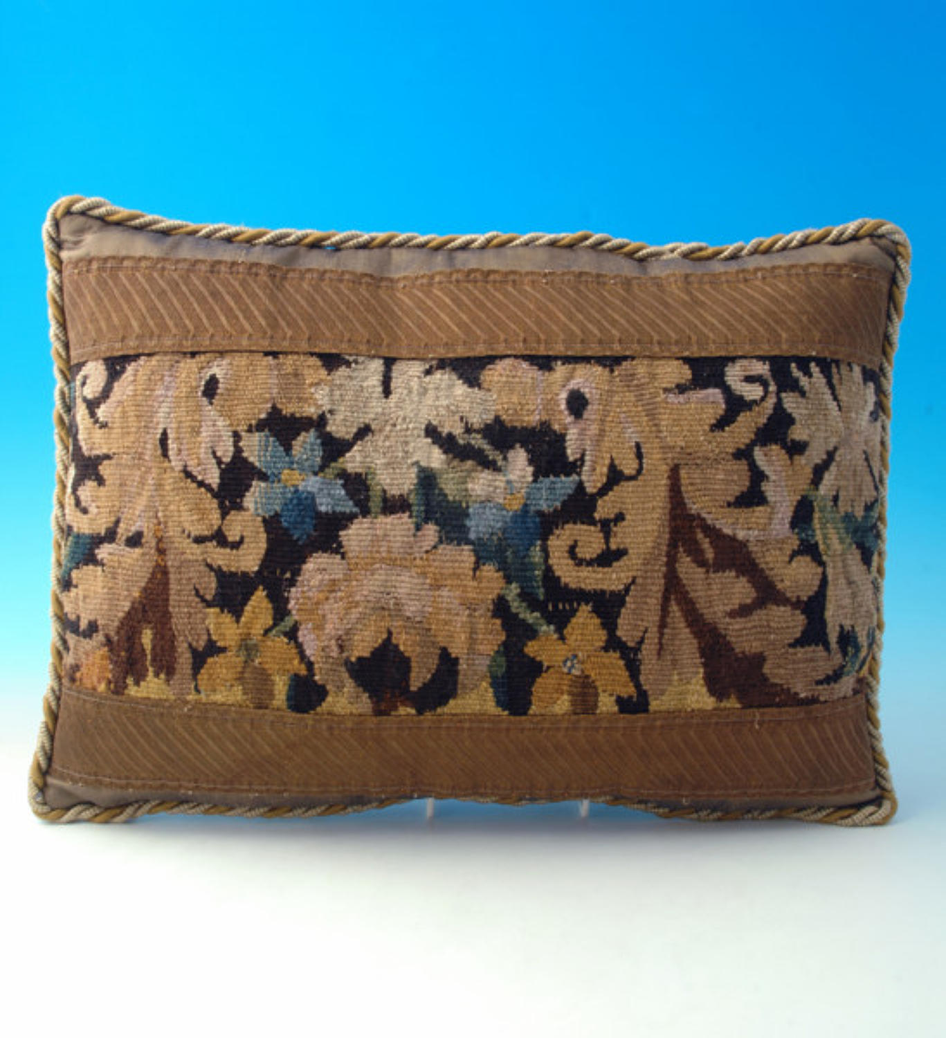 Cushion made from 17thc Tapestry Fragment. French C1601 - C1799