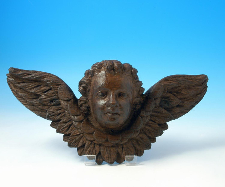 17thc Carving of a Cherub. English C1660 - 70