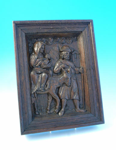 16thc Oak carving,