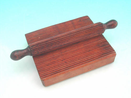 19thc Crimping Board & Roller. English C1850 - 60