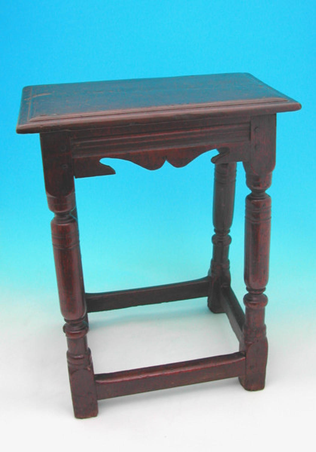 A good 17thc Oak Joined Stool. English C1640 - 50