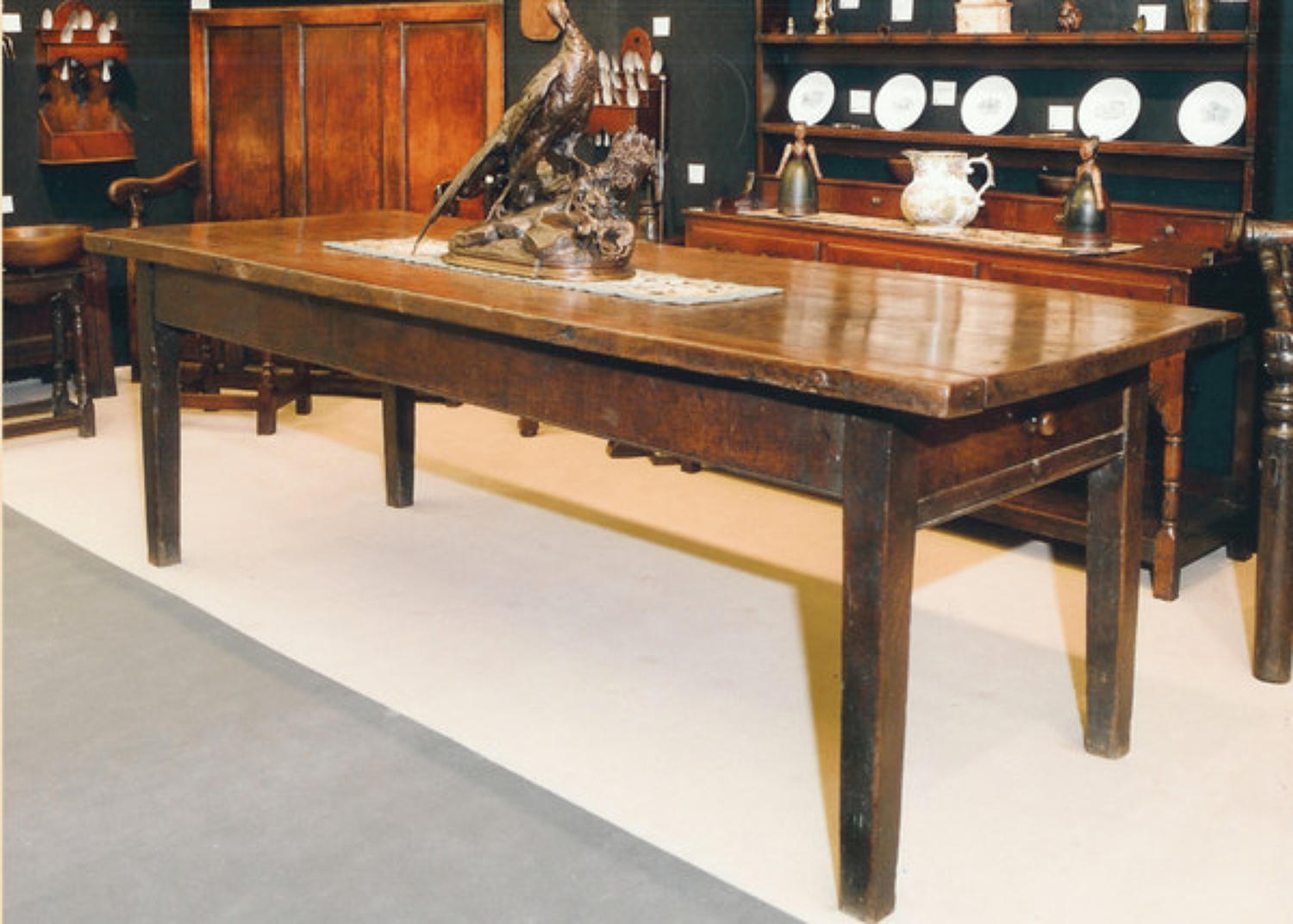 A wonderful Ten Seater Oak Farmhouse Table. English  C1780 - 90