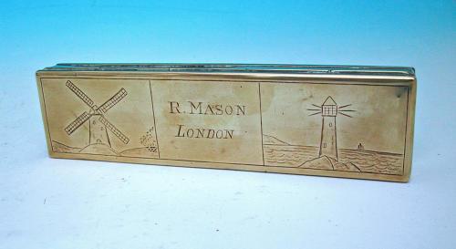 Antique 19thc Brass Metalware Tobacco Box. English C1800 - 20