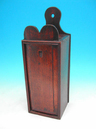 A well made Oak Candlebox of bold proportions. Welsh C1780 - C1800