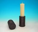 19thc Pair Of Lignum Vitae Turned Candlesticks. English C1820 - 40 - picture 2