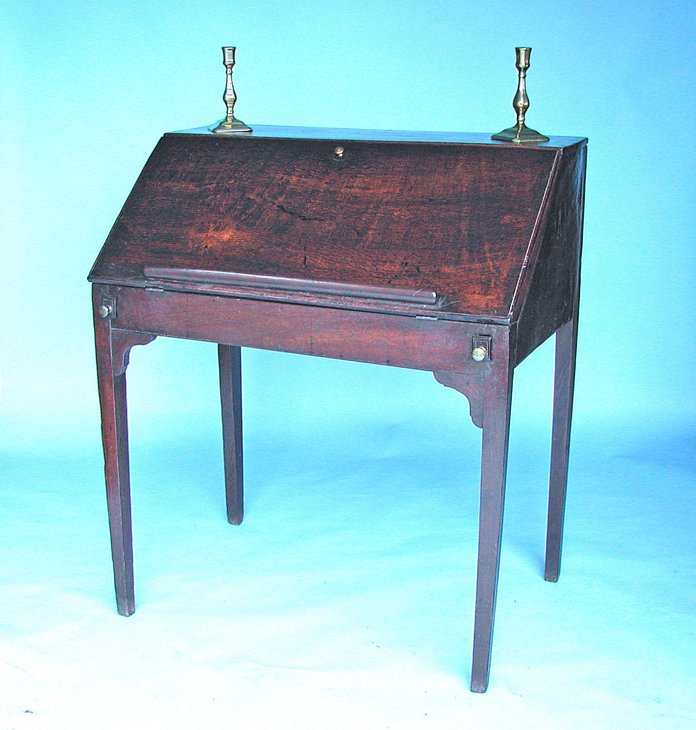 Antique Furniture 18thc Oak Writing Desk. English. C1760-80.