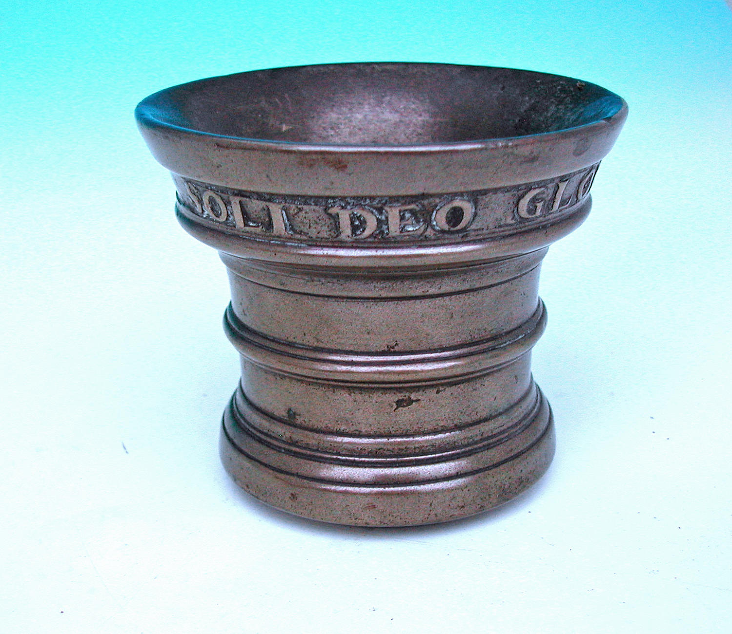 Antique Metalware 18thc Bronze Dated 1737 Mortar . Dutch.C1730-40