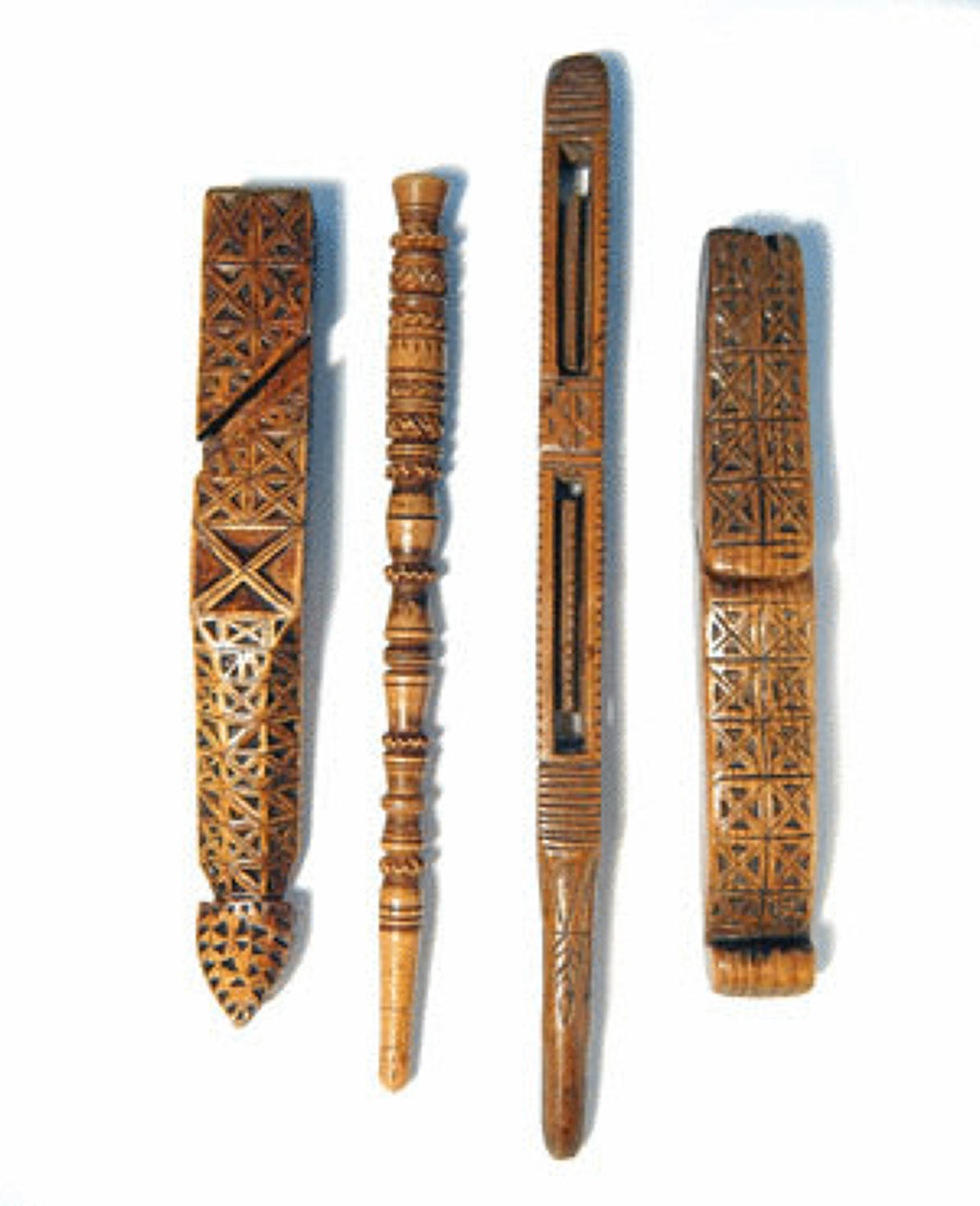 Four 18/19thc Knitting Sheaths European C1780 - C1840