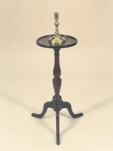 A Rare late 18thc Candlestand in Oak. English C1770 - 80