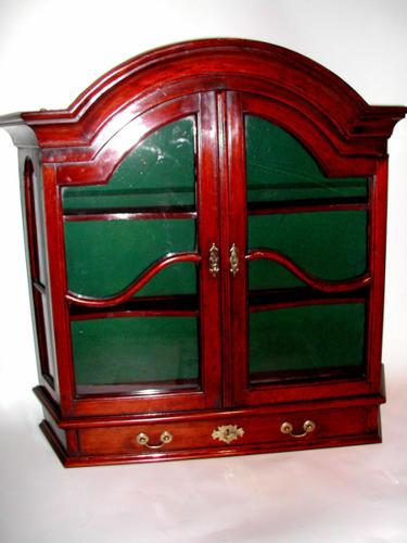 18thc Red Walnut Hanging Glazed Cupboard. Dutch C1740 - 50