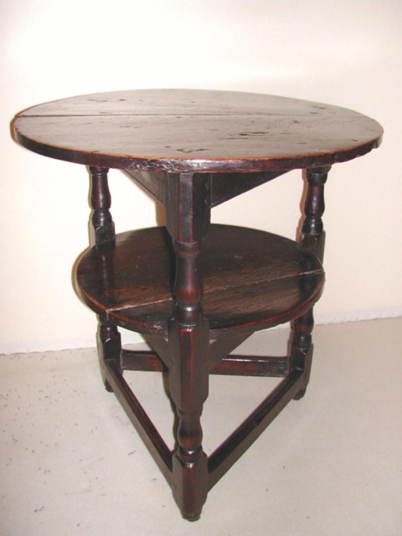 A 17thc/18thc Oak & Elm Joined Cricket Table. English C1690 - C1700