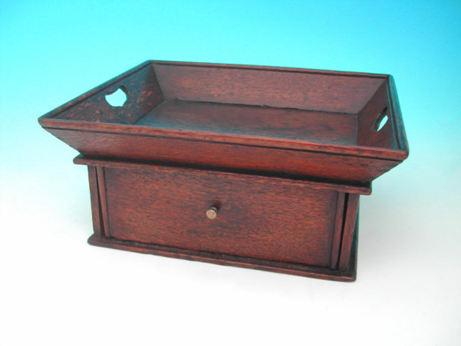 18thc Oak Desk Tidy. English C1730 - 40