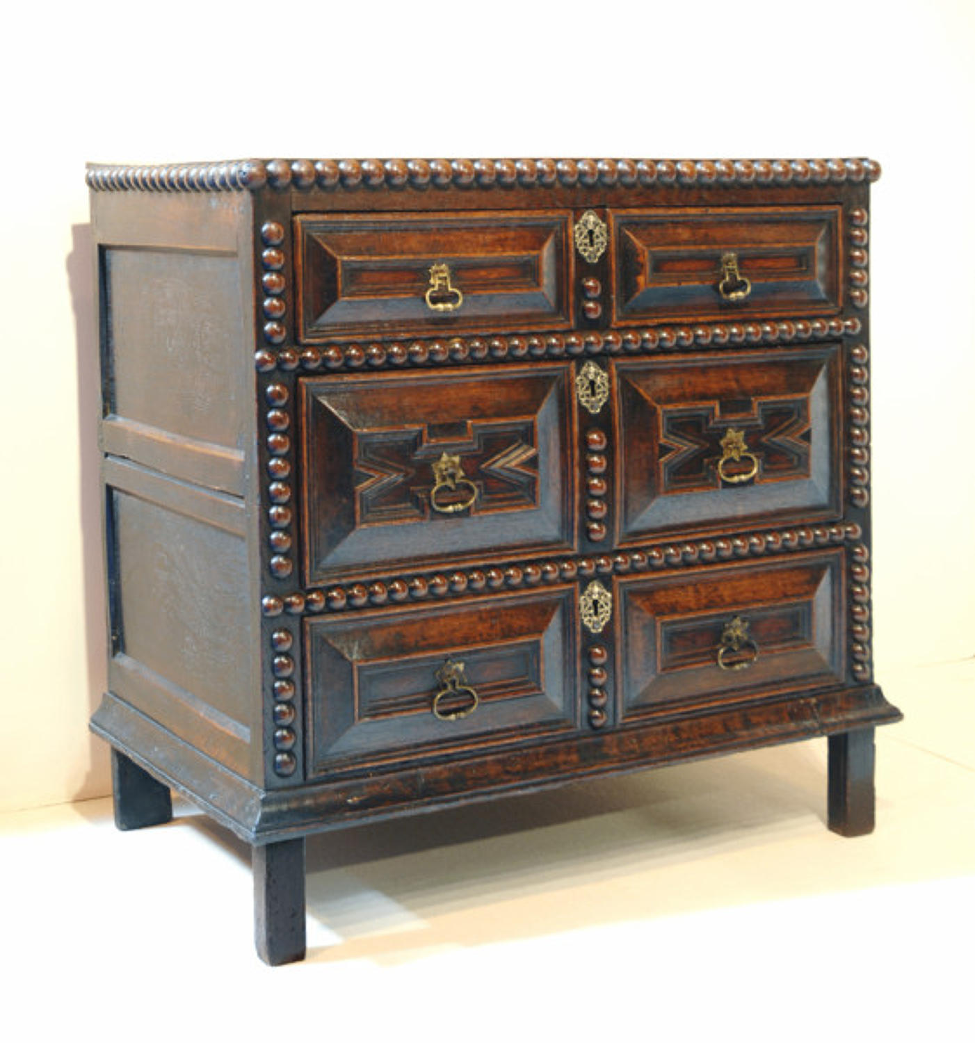 17thc Oak Chest of Drawers which splits into two parts. English C1660