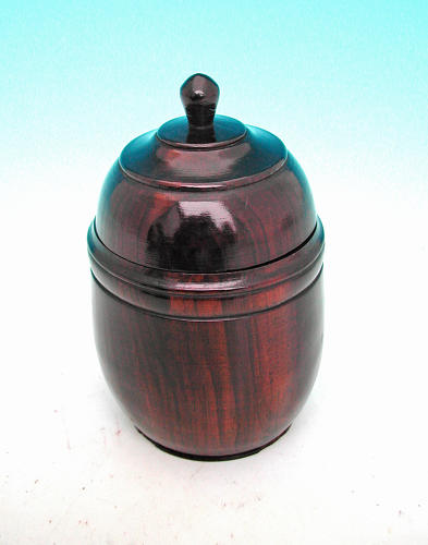 19thc Ebony Lidded Spice Pot . English.   C1880-90