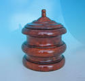 19thc Treen Fruitwood Tobacco Jar .   English. C1840-60. - picture 1