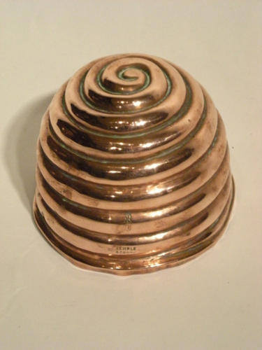 An unusual Copper Jelly Mould in the shape of a Beehive. English C1850
