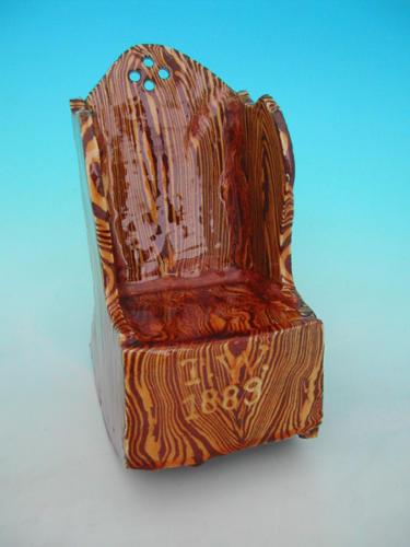 19thc Slipware Chair. English C1880 - 90