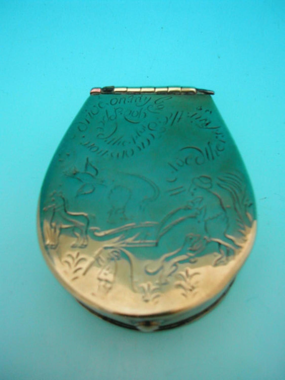 18thc Brass Tobacco Box. English C1735