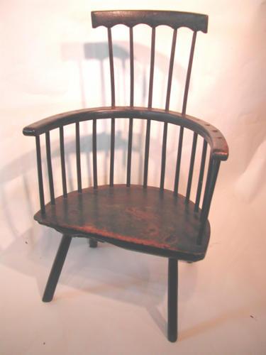 18thc Primative Stickback Armchair. Welsh C1770 - 80