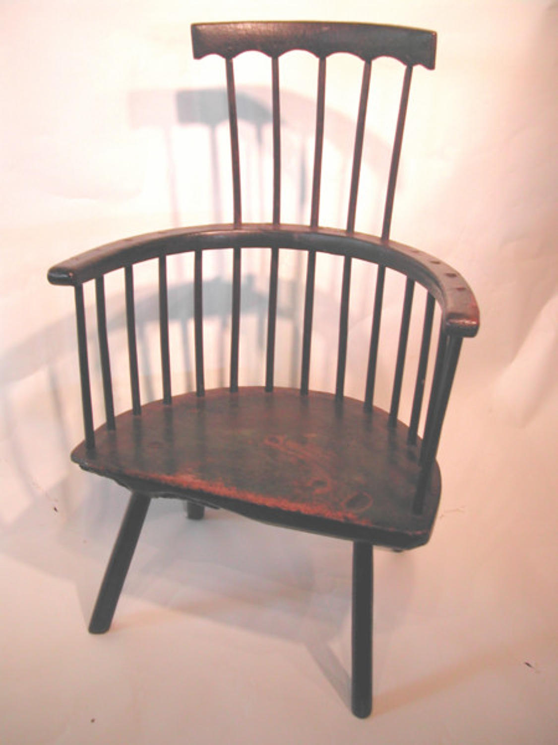 18thc Primative Stickback Armchair. Welsh C1770 - 80