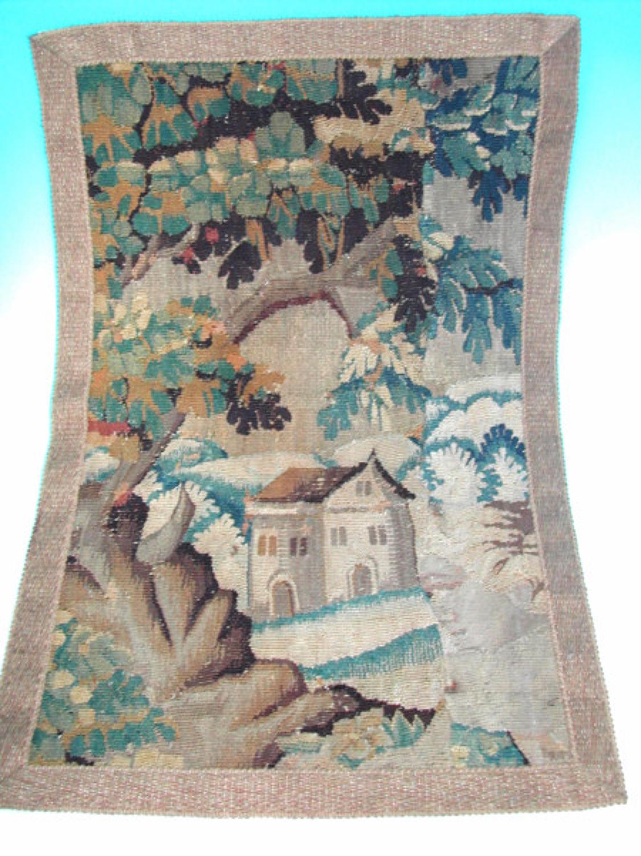 17thc Flemish Tapestry Fragment. Flemish C1660 - 80