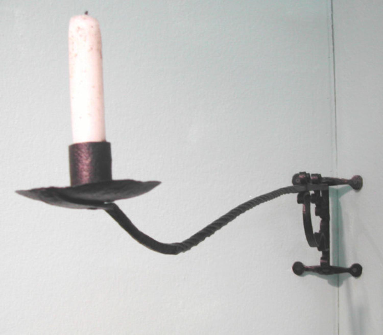 17thc Iron Candle Holder. English C1680 - C1700