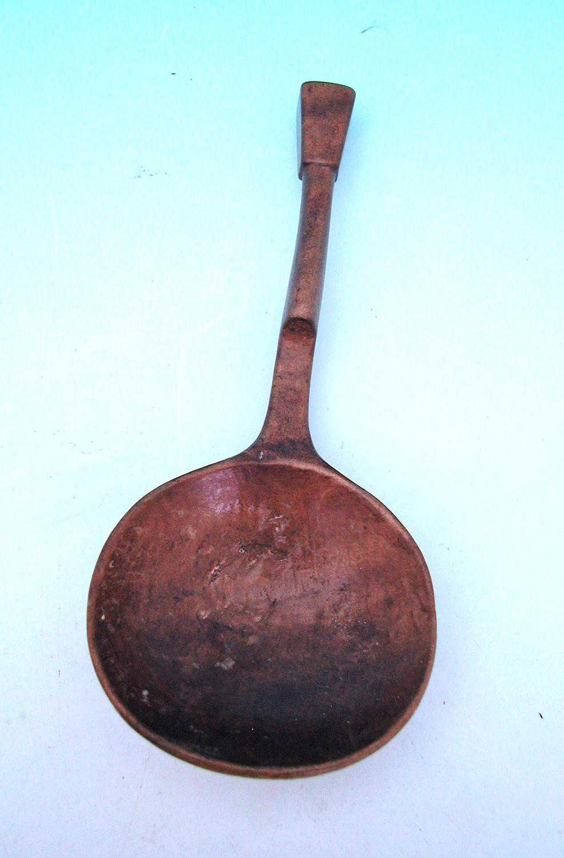 Antique 19thc Treen Sycamore Spoon.  Norwegian. C1860-80