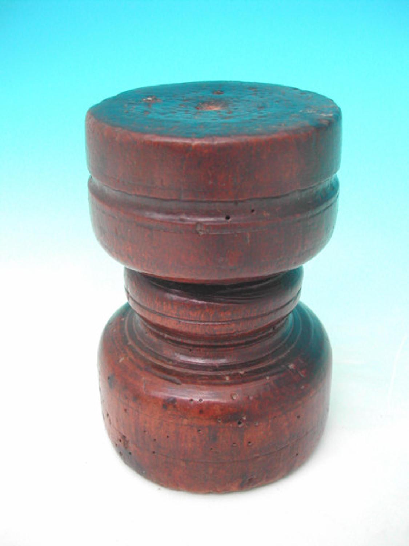 17thc Beech Candleholder. English C1630 - 40