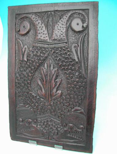 17thc English Oak Panel .  Lancashire,  C1650-70.