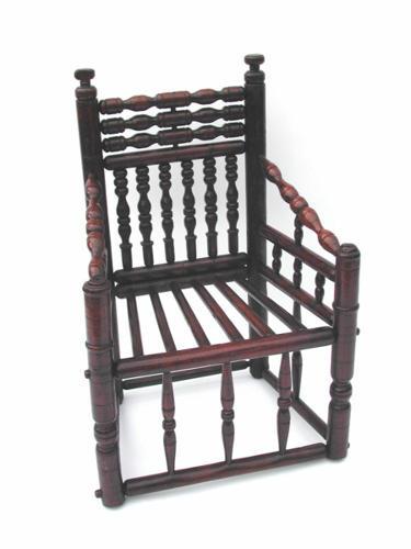 17thc Ash Turners Chair . English. C1640-60
