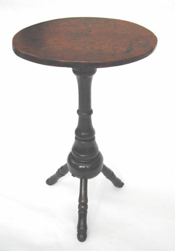 17thc Antique Burr Elm Tripod Table . English. C1680-90